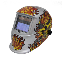 MX-8 Auto Darkening Welding Helmet with skull flame